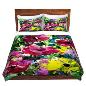 Artistic Duvet Covers and Shams Bedding | Kathy Stanion - Meadow Dreams 46 | Nature Flowers