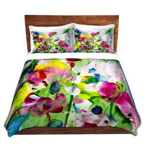 Artistic Duvet Covers and Shams Bedding   Kathy Stanion - Meadow Dreams 5   Nature Flowers