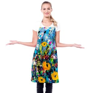 Artistic Bakers Aprons   Kathy Stanion - Meadow Magic 2   Nature Flowers