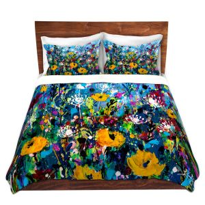Artistic Duvet Covers and Shams Bedding | Kathy Stanion - Meadow Magic 2 | Nature Flowers