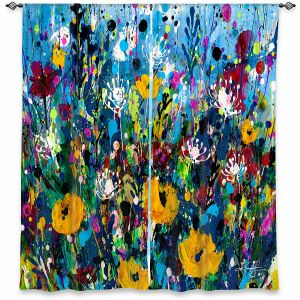 Decorative Window Treatments   Kathy Stanion - Meadow Magic 2   Nature Flowers