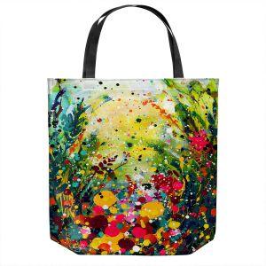 Unique Shoulder Bag Tote Bags | Kathy Stanion - Meadow Rhapsody | Nature Flowers