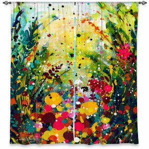 Decorative Window Treatments | Kathy Stanion - Meadow Rhapsody | Nature Flowers