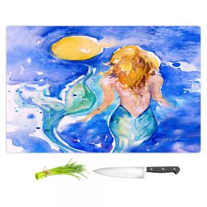 Artistic Kitchen Bar Cutting Boards | Kathy Stanion - Moon Wish Mermaid