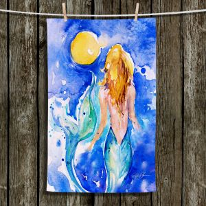 Unique Bathroom Towels | Kathy Stanion - Moon Wish Mermaid