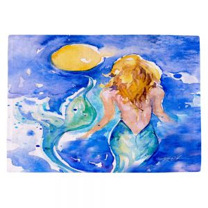 Decorative Kitchen Placemats 18x13 from DiaNoche Designs by Kathy Stanion - Moon Wish Mermaid