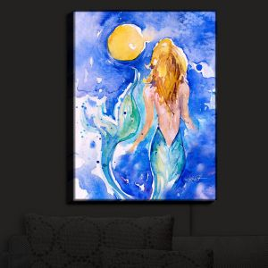 Nightlight Sconce Canvas Light | Kathy Stanion - Moon Wish Mermaid