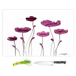 Artistic Kitchen Bar Cutting Boards | Kathy Stanion - Organic Impressions 409 | Nature Flowers