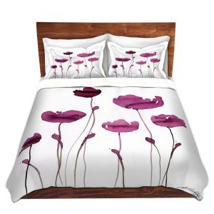 Artistic Duvet Covers and Shams Bedding | Kathy Stanion - Organic Impressions 409 | Nature Flowers