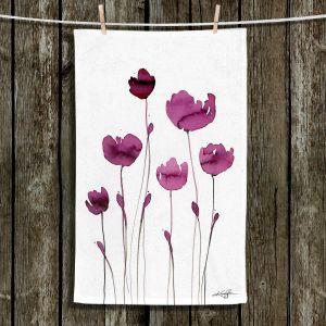 Unique Hanging Tea Towels | Kathy Stanion - Organic Impressions 409 | Nature Flowers