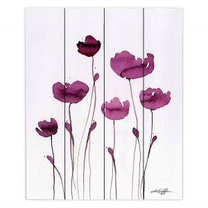 Decorative Wood Plank Wall Art | Kathy Stanion - Organic Impressions 409 | Nature Flowers