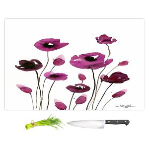 Artistic Kitchen Bar Cutting Boards | Kathy Stanion - Organic Impressions 411 | Nature Flowers