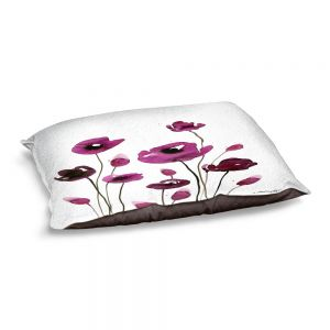 Decorative Dog Pet Beds | Kathy Stanion - Organic Impressions 411 | Nature Flowers