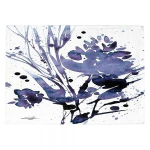 Countertop Place Mats | Kathy Stanion - Organic Impressions 112 | flower watercolor