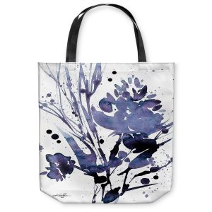Unique Shoulder Bag Tote Bags | Kathy Stanion - Organic Impressions 112 | flower watercolor