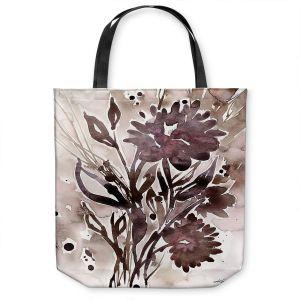 Unique Shoulder Bag Tote Bags   Kathy Stanion - Organic Impressions 115   flower watercolor