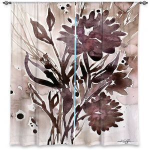 Decorative Window Treatments | Kathy Stanion - Organic Impressions 115 | flower watercolor
