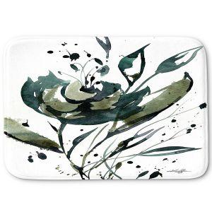 Decorative Bathroom Mats | Kathy Stanion - Organic Impressions 116 | flower watercolor