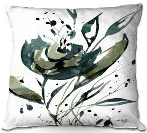 Throw Pillows Decorative Artistic | Kathy Stanion - Organic Impressions 116 | flower watercolor