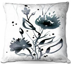 Throw Pillows Decorative Artistic | Kathy Stanion - Organic Impressions 117 | flower watercolor