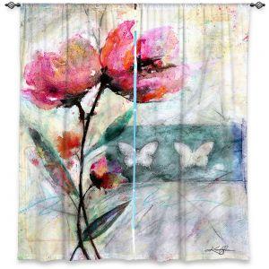Decorative Window Treatments | Kathy Stanion - Poppy Romance 2 | flower butterfly pattern