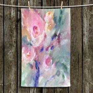 Unique Bathroom Towels | Kathy Stanion - Soft Blooms 1 | Nature Flowers