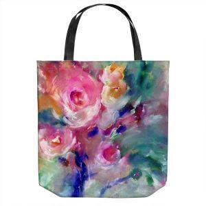 Unique Shoulder Bag Tote Bags   Kathy Stanion - Soft Blooms 2   Nature Flowers