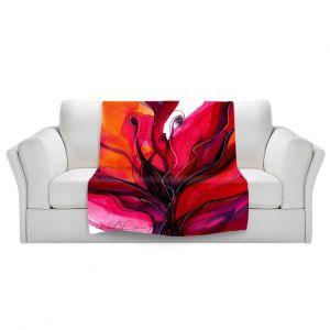 Artistic Sherpa Pile Blankets | Kathy Stanion Soul Flower 60