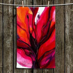 Unique Hanging Tea Towels | Kathy Stanion - Soul Flower 60 | Abstract Flower Bright Colors