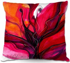 Unique Throw Pillows from DiaNoche Designs by Kathy Stanion - Soul Flower 6 |16X16