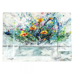 Countertop Place Mats | Kathy Stanion - Sweet Memories 1 | flower still life butterfly