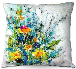 Decorative Outdoor Patio Pillow Cushion   Kathy Stanion - Sweet Memories 2   flower still life