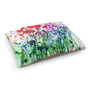 Decorative Dog Pet Beds | Kathy Stanion - Walk Among the Flowers 02 | abstract floral splatter