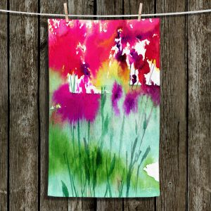 Unique Hanging Tea Towels   Kathy Stanion - Walk Among the Flowers 06   abstract floral watercolor