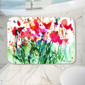 Decorative Bathroom Mats | Kathy Stanion - Walk Among the Flowers 08 | abstract floral splatter