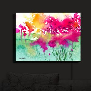 Nightlight Sconce Canvas Light | Kathy Stanion - Walk Among the Flowers 10 | abstract floral watercolor