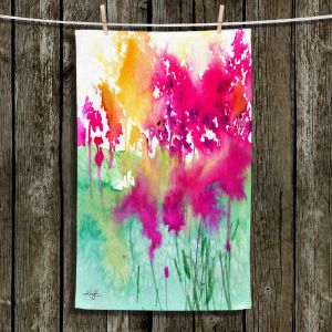 Unique Bathroom Towels | Kathy Stanion - Walk Among the Flowers 10 | abstract floral watercolor