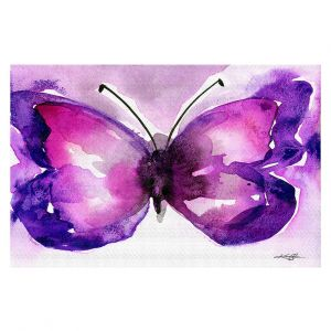 Decorative Floor Covering Mats | Kathy Stanion - Watercolor Butterfly 31 | insect bug nature