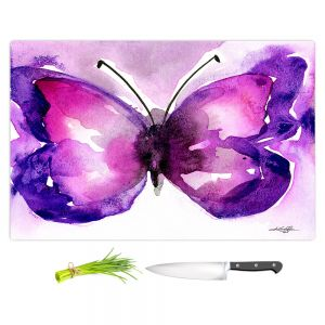 Artistic Kitchen Bar Cutting Boards   Kathy Stanion - Watercolor Butterfly 31   insect bug nature