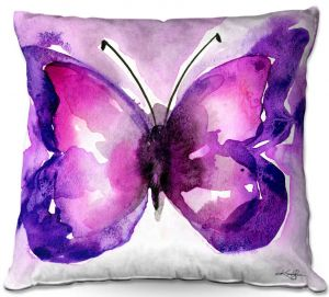 Decorative Outdoor Patio Pillow Cushion | Kathy Stanion - Watercolor Butterfly 31 | insect bug nature
