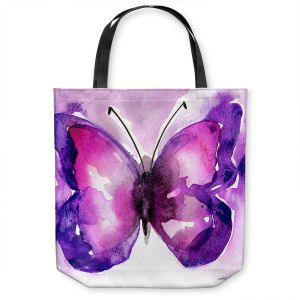 Unique Shoulder Bag Tote Bags | Kathy Stanion - Watercolor Butterfly 31 | insect bug nature