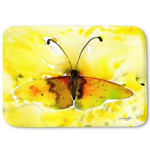 Decorative Bathroom Mats | Kathy Stanion - Watercolor Butterfly 32 | insect bug nature