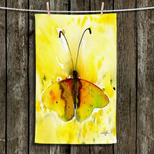 Unique Hanging Tea Towels | Kathy Stanion - Watercolor Butterfly 32 | insect bug nature