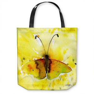 Unique Shoulder Bag Tote Bags | Kathy Stanion - Watercolor Butterfly 32 | insect bug nature