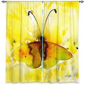 Unique Window Curtains Unlined 60w x 82h from DiaNoche Designs by Kathy Stanion - Watercolor Butterfly 32