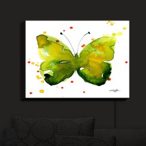 Nightlight Sconce Canvas Light | Kathy Stanion - Watercolor Butterfly 33 | insect bug nature