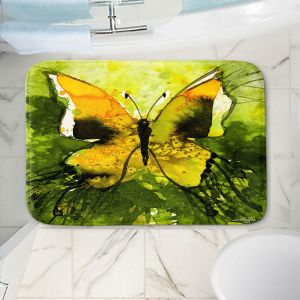 Decorative Bathroom Mats | Kathy Stanion - Watercolor Butterfly 35 | insect bug nature