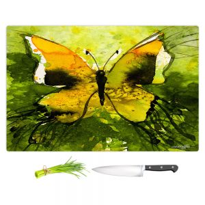 Artistic Kitchen Bar Cutting Boards | Kathy Stanion - Watercolor Butterfly 35 | insect bug nature