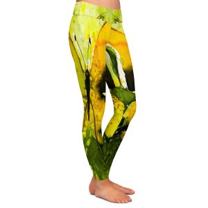 Casual Comfortable Leggings | Kathy Stanion - Watercolor Butterfly 35 | insect bug nature