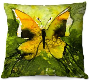 Decorative Outdoor Patio Pillow Cushion | Kathy Stanion - Watercolor Butterfly 35 | insect bug nature